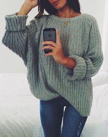 fall-fashion-green-knit