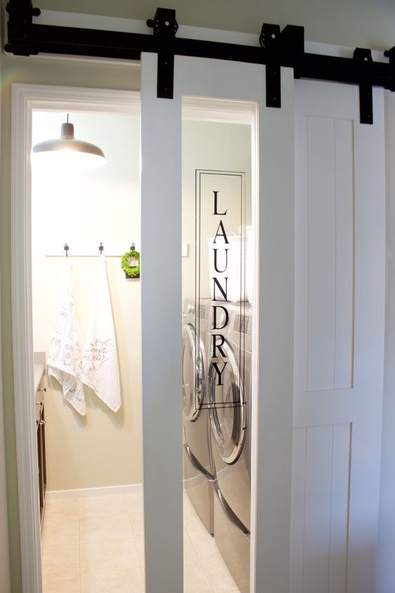 barn doors laundry room